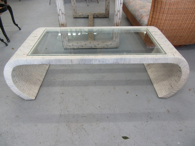 Woven Ming Style Wicker  Coffee Table