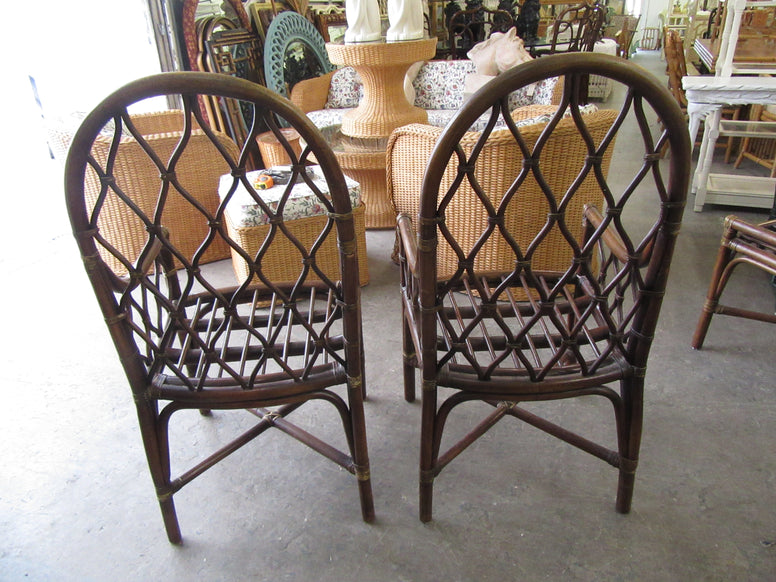 Rattan Ficks Reed Diamond Pattern Dinette Set