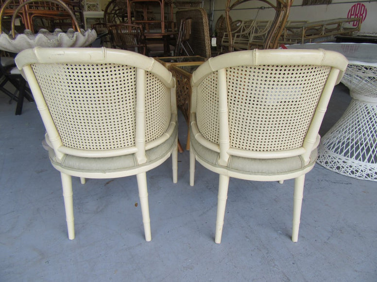 HWR Faux Bamboo Barrel Chairs