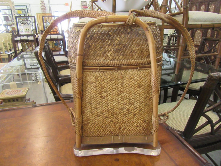 Woven Island Style Back Pack Lamp
