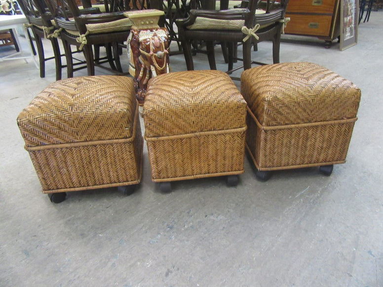 Rattan and Wicker Console Table