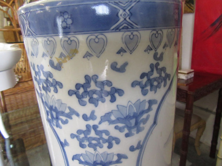 Blue & White Asian Inspired Umbrella Stand