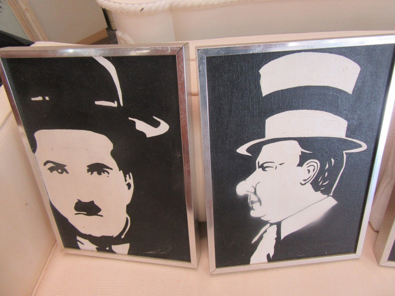 Set of 4 Celebrity Silk Screens