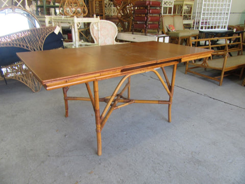 1940's Rattan Extendable Bamboo Table