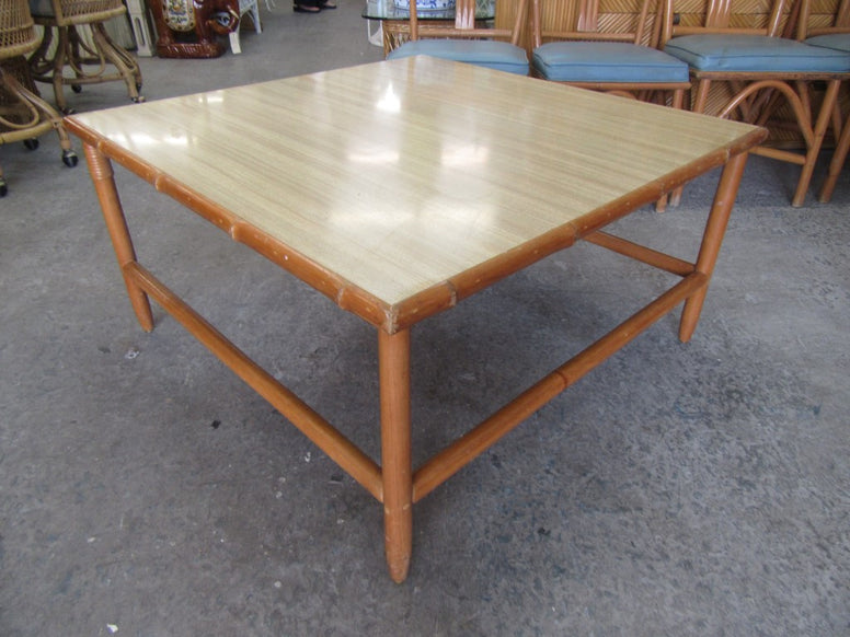1950's Bamboo & Mica Coffee Table