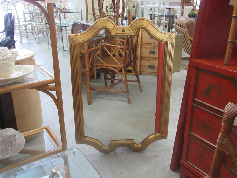 Gold Gilt Hollywood Regency Mirror