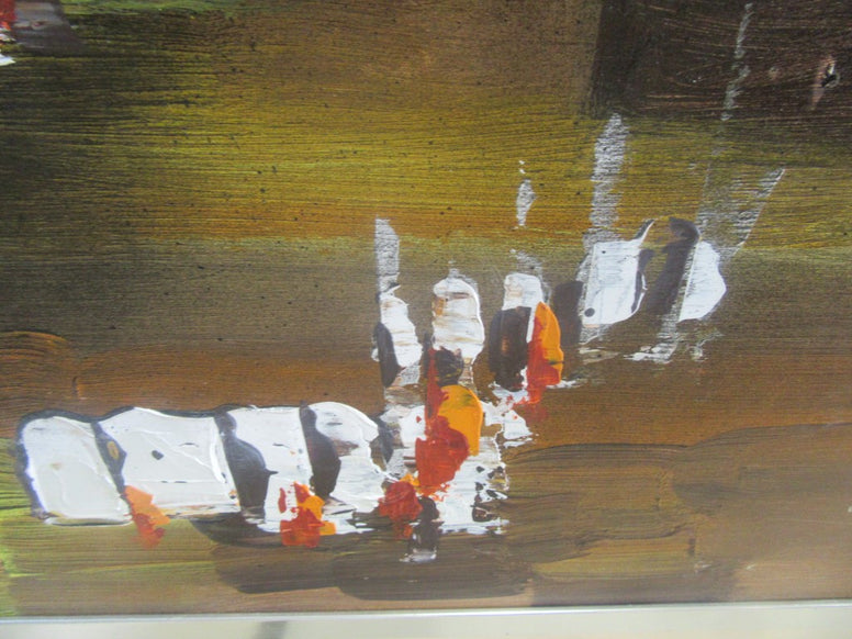 Mid Century Abstract Palet Painting