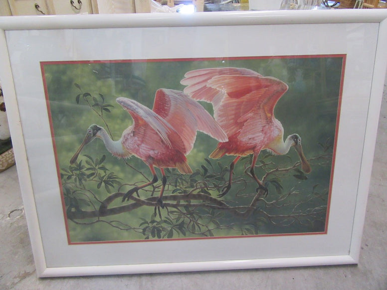 Dee Smith Flamingo Serigraph