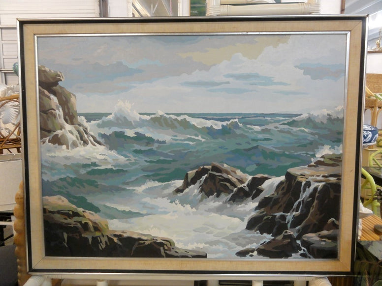 Vintage Paint by Numbers Ocean Scene