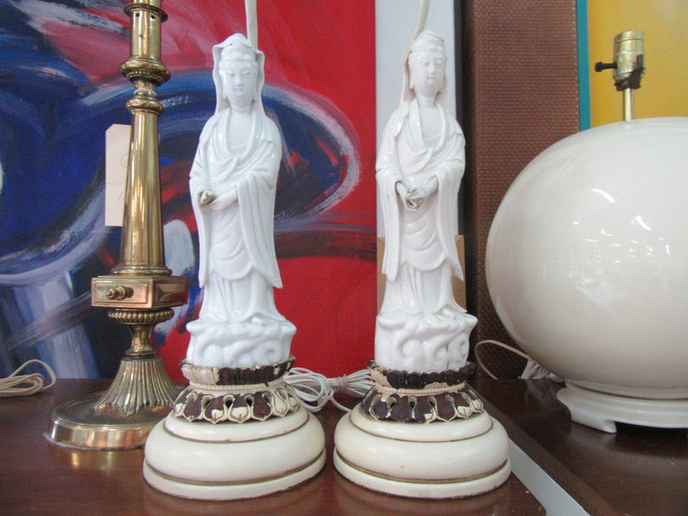 Porcelain Asian Lady Lamps