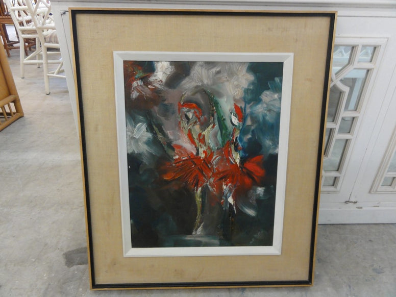 Mid Century Ballerina Abstract Painting