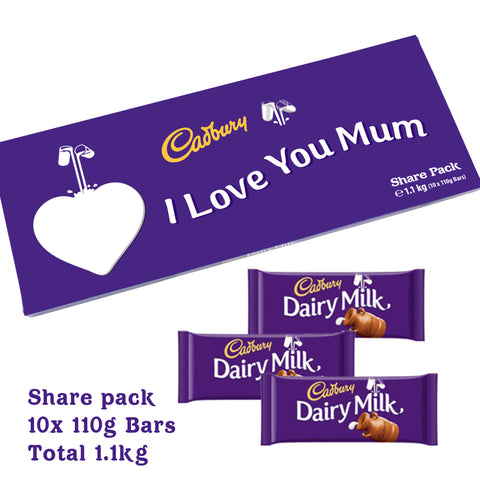 Personalised 1.1KG Dairy Milk Share Pack