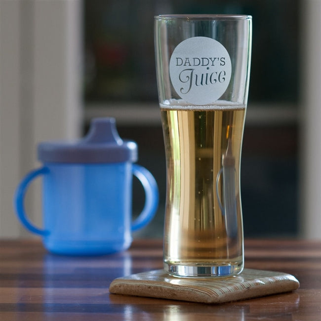 Daddy's Juice Pint Beer Glass-OurPersonalisedGifts.com