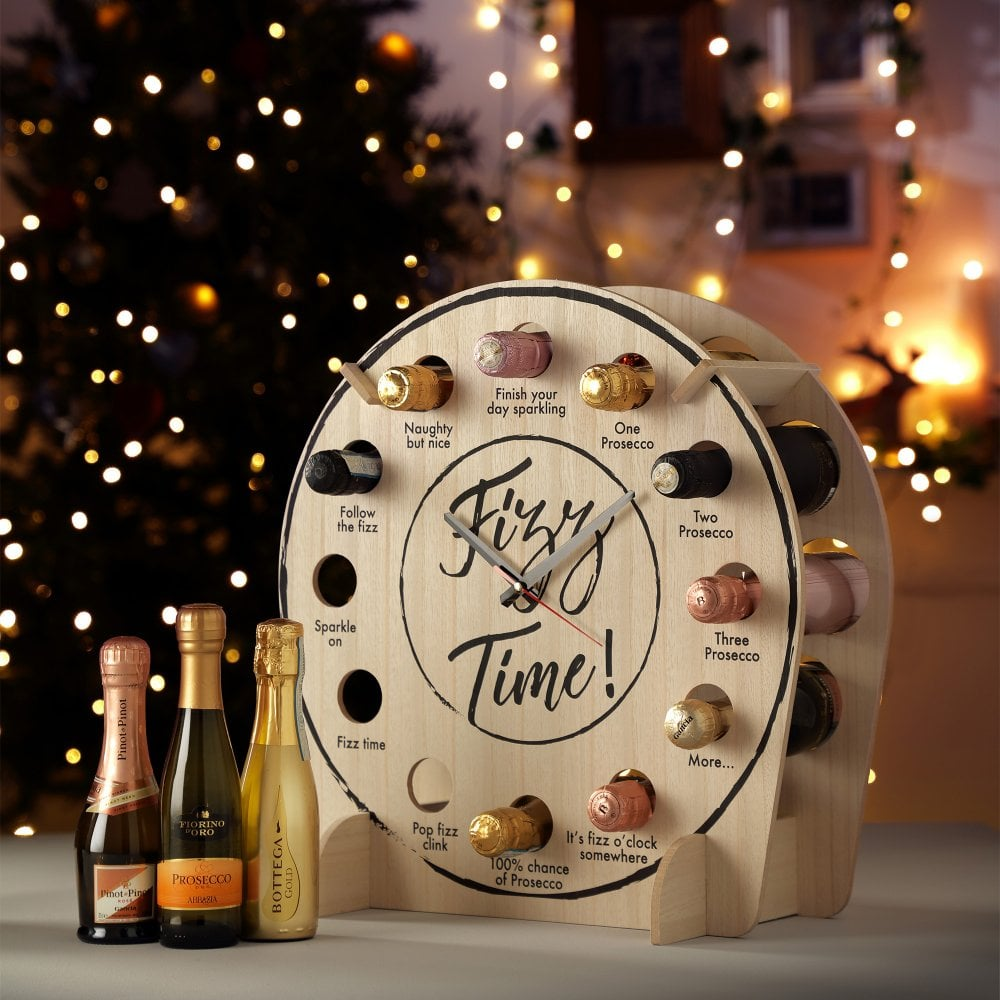 Fizz Time Clock-OurPersonalisedGifts.com