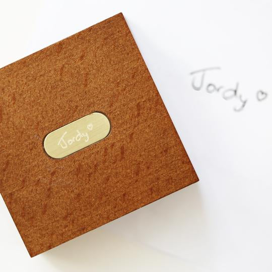 Own Handwriting Engraved Compass with Wooden Box-OurPersonalisedGifts.com