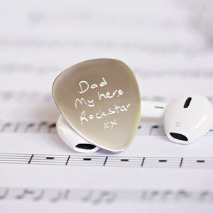 Own Handwriting Engraved Guitar Pick-OurPersonalisedGifts.com