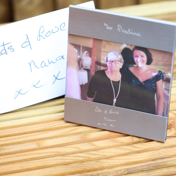 Own Handwriting Engraved Photo Frame-OurPersonalisedGifts.com