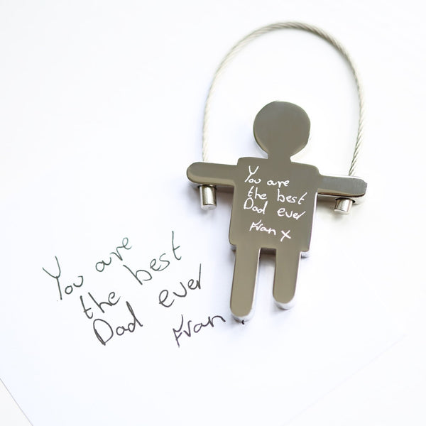 Own Handwriting Engraved Skipping Sam Key Ring-OurPersonalisedGifts.com