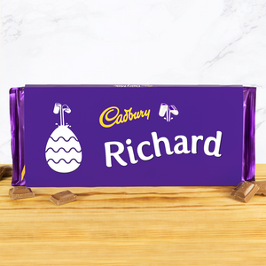 Personalised 360g Cadbury Easter Chocolate Bar-OurPersonalisedGifts.com