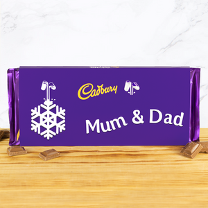 Personalised 360g Christmas Emoji Cadbury Chocolate Bar-OurPersonalisedGifts.com