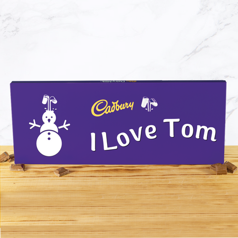 Personalised 850g Christmas Emoji Cadbury Chocolate Bar-OurPersonalisedGifts.com