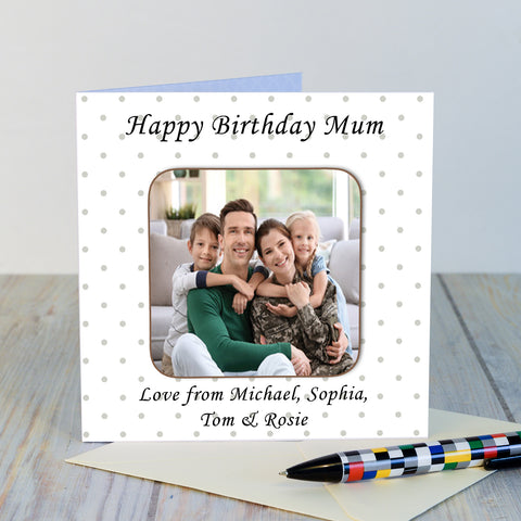 Personalised Any Message Photo Upload Coaster Card-OurPersonalisedGifts.com