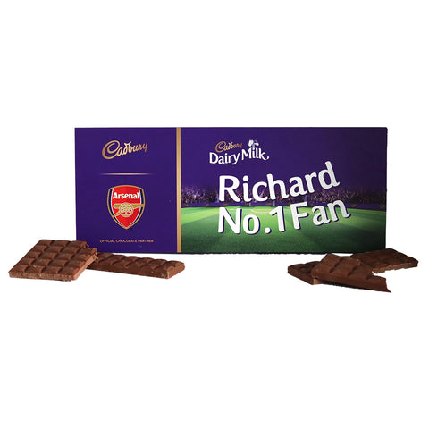 Personalised Arsenal Cadbury Dairy Milk 850g-OurPersonalisedGifts.com