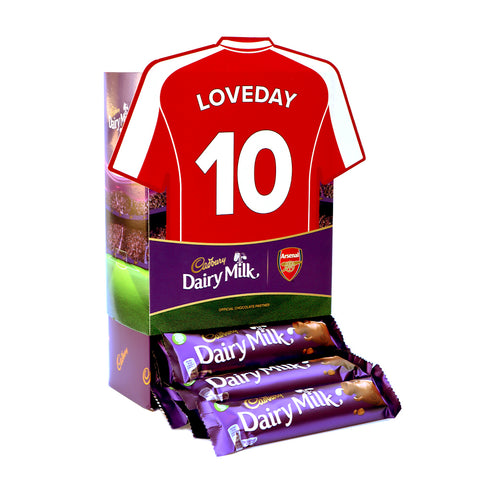 Personalised Arsenal Shirt Cadbury Dairy Milk Favourites Box-OurPersonalisedGifts.com