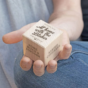 Personalised At Home Activity Dice-OurPersonalisedGifts.com