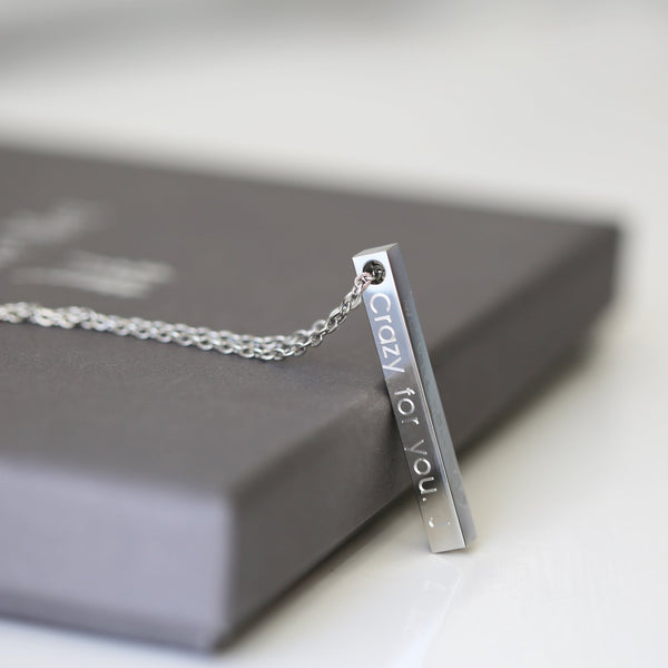 Personalised Bar Necklace-OurPersonalisedGifts.com