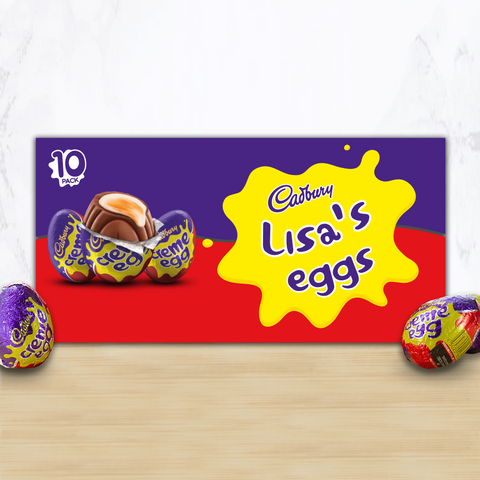 Personalised Cadbury Creme Egg Box-OurPersonalisedGifts.com