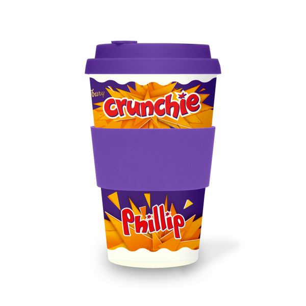 Personalised Cadbury Crunchie Ecoffee Cup-OurPersonalisedGifts.com