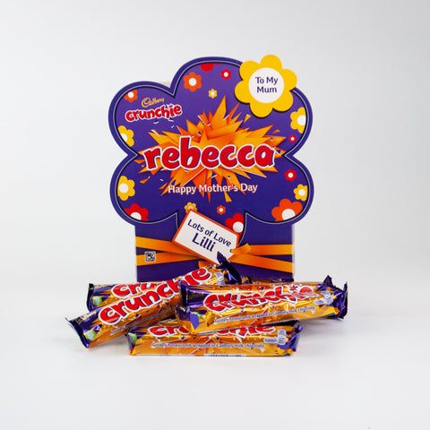 Personalised Cadbury Crunchie Mother's Day Favourites Box-OurPersonalisedGifts.com