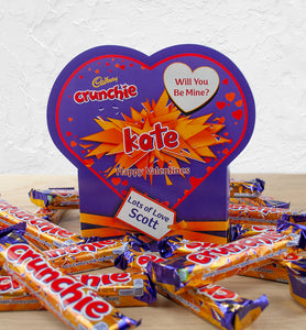 Personalised Cadbury Crunchie Valentine Favourites Box-OurPersonalisedGifts.com