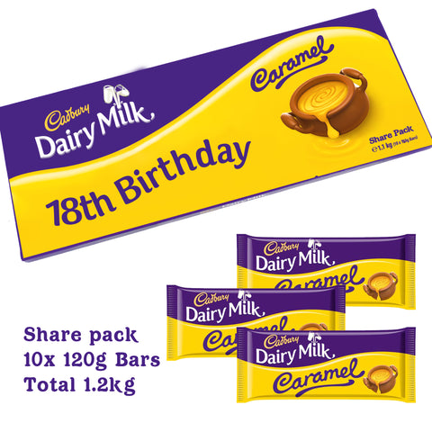 Personalised Cadbury Dairy Milk Caramel Share Pack-OurPersonalisedGifts.com