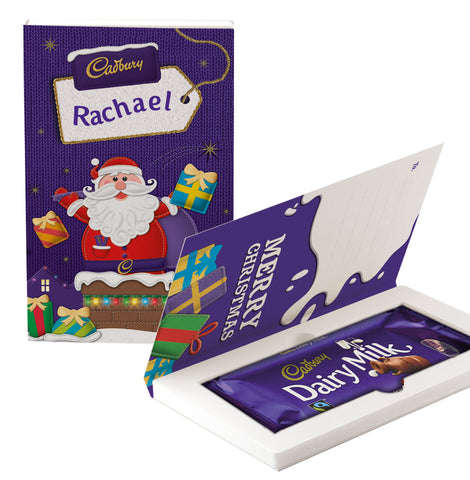 Personalised Cadbury Dairy Milk Chocolate Christmas Card 200g-OurPersonalisedGifts.com