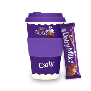 Personalised Cadbury Dairy Milk Ecoffee Cup-OurPersonalisedGifts.com