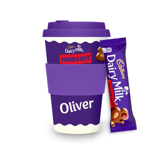 Personalised Cadbury Dairy Milk Fruit & Nut Ecoffee Cup-OurPersonalisedGifts.com