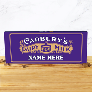 Personalised Cadbury Dairy Milk Retro 1915 Design 850g-OurPersonalisedGifts.com