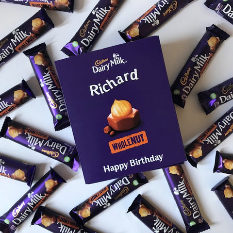 Personalised Cadbury Dairy Milk Whole Nut Favourites Box-OurPersonalisedGifts.com