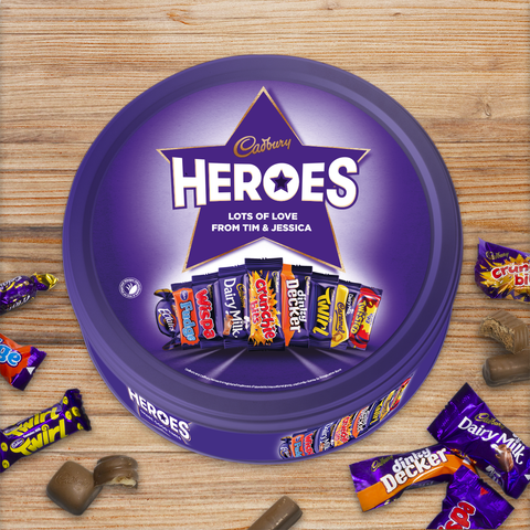 Personalised Cadbury Heroes Tin-OurPersonalisedGifts.com