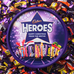 Personalised Christmas Cadbury Heroes Tub-OurPersonalisedGifts.com