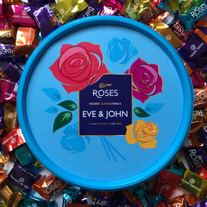 Personalised Cadbury Roses Tub-OurPersonalisedGifts.com