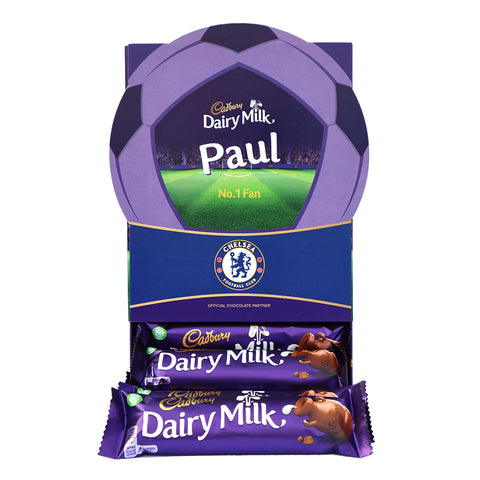 Personalised Chelsea Cadbury Dairy Milk Favourites Box-OurPersonalisedGifts.com