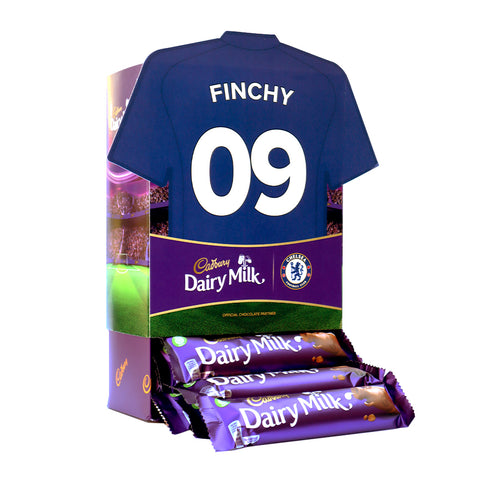 Personalised Chelsea Shirt Cadbury Dairy Milk Favourites Box-OurPersonalisedGifts.com