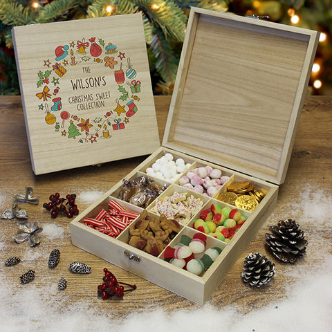 Personalised Christmas Collection Wooden Sweet Box-OurPersonalisedGifts.com