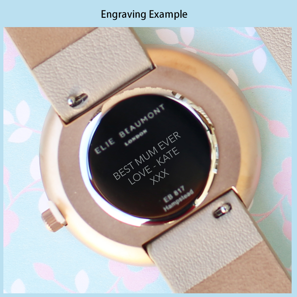 Personalised Elie Beaumont Hampstead Green Leather Watch-OurPersonalisedGifts.com