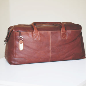 Personalised Full Grain Leather Travel Bag-OurPersonalisedGifts.com