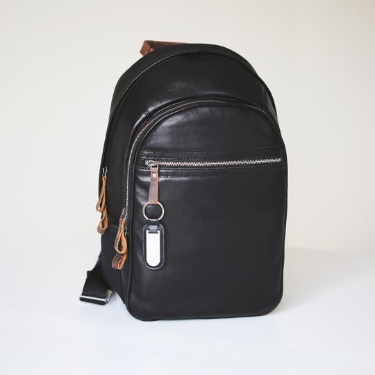 Personalised Genuine Leather Rucksack-OurPersonalisedGifts.com