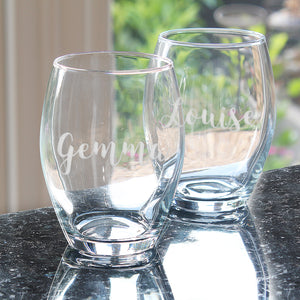 Personalised Name Stemless Wine Glass-OurPersonalisedGifts.com